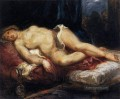 Odalisque Reclining on a Divan romantische Eugene Delacroix