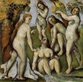 Five Bathers Paul Cezanne Nacktheit Impressionismus