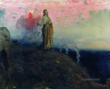 Christentum und Jesus Werke - follow me satan temptation of jesus christ 1903 Ilya Repin
