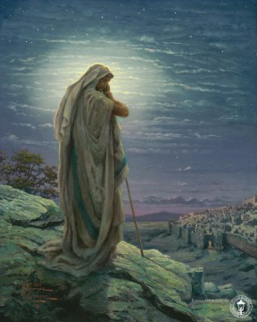 Christentum und Jesus Werke - A Prayer for Peace Thomas Kinkade religiösen Christentum