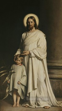 Christentum und Jesus Werke - Christ and Boy religion Carl Heinrich Bloch