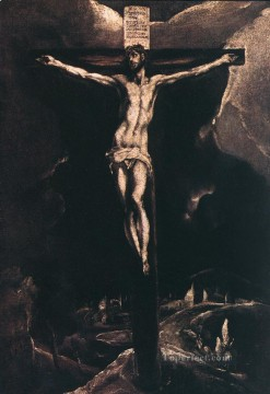 Christentum und Jesus Werke - Christ on the Cross 1585 religiösen El Greco