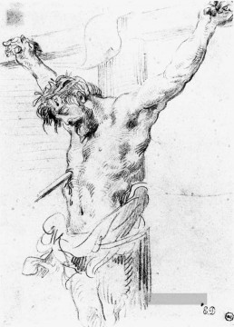 Christentum und Jesus Werke - Christ on the Cross sketch 2 romantische Eugene Delacroix