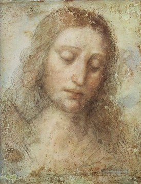 Christentum und Jesus Werke - Head of Christ 1494 Leonardo da Vinci