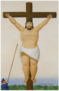 Christentum und Jesus Werke - Jesus on Cross Fernando Botero