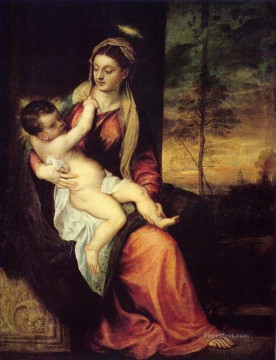 Christentum und Jesus Werke - Mary with the Christ Child Titian