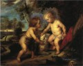 The Christ Child and the Infant St John after Rubens Impressionist Theodore Clement Steele