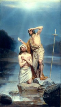 Christentum und Jesus Werke - The Baptism of Christ religion Carl Heinrich Bloch