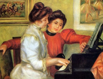 Christentum und Jesus Werke - yvonne and christine lerolle playing the piano Pierre Auguste Renoir
