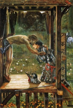 Christentum und Jesus Werke - Burne Jones Merciful Knight religiösen Christentum