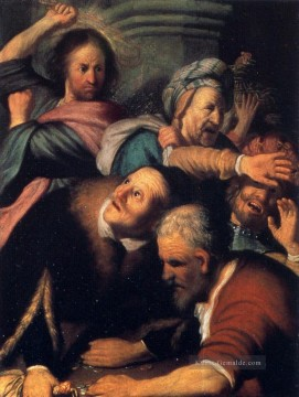 Christentum und Jesus Werke - Christ Driving The Money Changers From The Temple Rembrandt