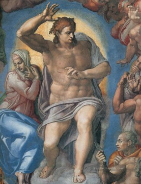 Christentum und Jesus Werke - Last Judgement Christ the Judge High Michelangelo
