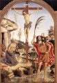 The Crucifixion With Sts Jerome And Christopher religiösen Christentum Pinturicchio