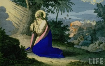 Christentum und Jesus Werke - christ praying in the garden of gethsemene
