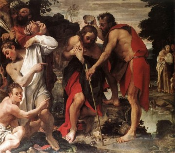 Christentum und Jesus Werke - The Baptism of Christ religiösen Annibale Carracci
