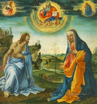 Christentum und Jesus Werke - The Intervention of Christ and Mary Christentum Filippino Lippi