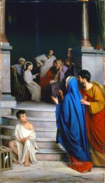 Christentum und Jesus Werke - Christ Teaching at the Temple religion Carl Heinrich Bloch