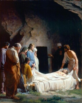 Christentum und Jesus Werke - The Burial of Christ religion Carl Heinrich Bloch