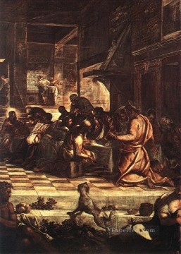 Christentum und Jesus Werke - The Last Supper detail1 Italian Tintoretto religious Christian