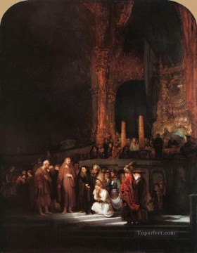 Christentum und Jesus Werke - Christ and the Woman Taken in Adultery Rembrandt