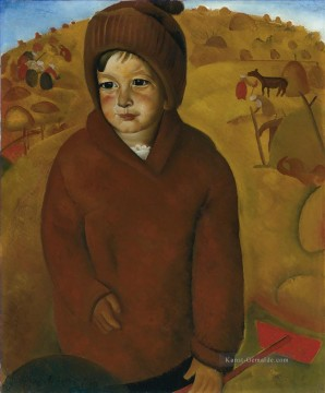 Russisch Werke - BOY AT HARVEST TIME Boris Dmitrijewitsch Grigorjew