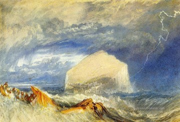Turner The Bass Felsen für die Provincial Antiquities of Scotland Seestück Ölgemälde
