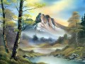 mountain 2 Bob Ross freehand Landschaften