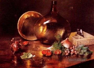 Stillleben Werke - Stillleben Messing und Glas Impressionismus William Merritt Chase