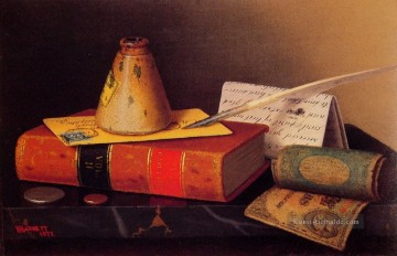 Stillleben Werke - Still Life Writing Table William Harnett