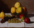 Still Life with Pears and Grapes Claude Monet