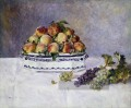 with peaches and grapes Pierre Auguste Renoir Stillleben