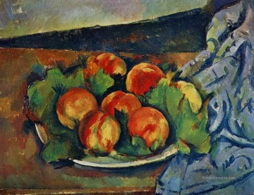 Stillleben Werke - Dish of Peaches Paul Cezanne Stillleben Impressionismus
