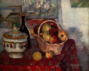 Impressionismus Stillleben Werke - Stillleben mit SuppeTureen 1884 Paul Cezanne