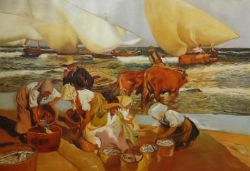 Inventa Werke - Strand in Valencia oder Nachmittagssonne von Joaquin Sorolla 26x37 Zoll EURO230