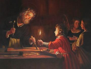 Inventa Werke - Childhood of Christ by Gerard van Honthorst Jesus Christian 18x21 inches USD180