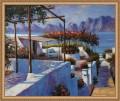 Mittelmeer Landschaft Landschaft Seaside Beach 20x24 Zoll Framed USD195 Kostenloser Versand