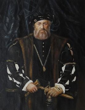 Inventa Werke - Porträt von Charles de Solier Lord von Morette von Hans Holbein der Jüngere 13x17 Zoll EURO120