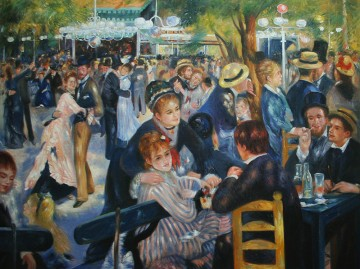 Moulin Galerie - Der Ball beim Moulin de la Galette Meister Pierre Auguste Renoir 37x49 Zoll EURO855