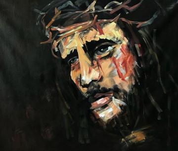 Inventa Werke - Gekreuzigter Jesus Christus religiös gestreckter bereites Hang 30x36 Inches USD99