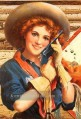 Modell cowgirl Originale Westernkunst