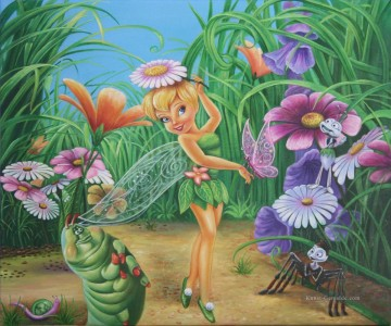 Fairy Tinkerbell and Her Friends Butterfly Ant Spider Caterpillar