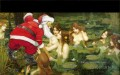 Santa Claus and fairies in a lake Originale Engel
