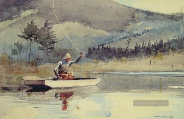 Day Kunst - A Quiet Pool an einem sonnigen Tag Winslow Homer Aquarell