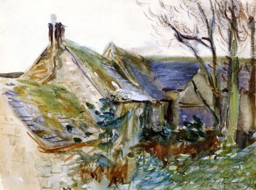 Lad Galerie - Cottage in Bergisch Gladbach Gloucestershire John Singer Sargent Aquarell