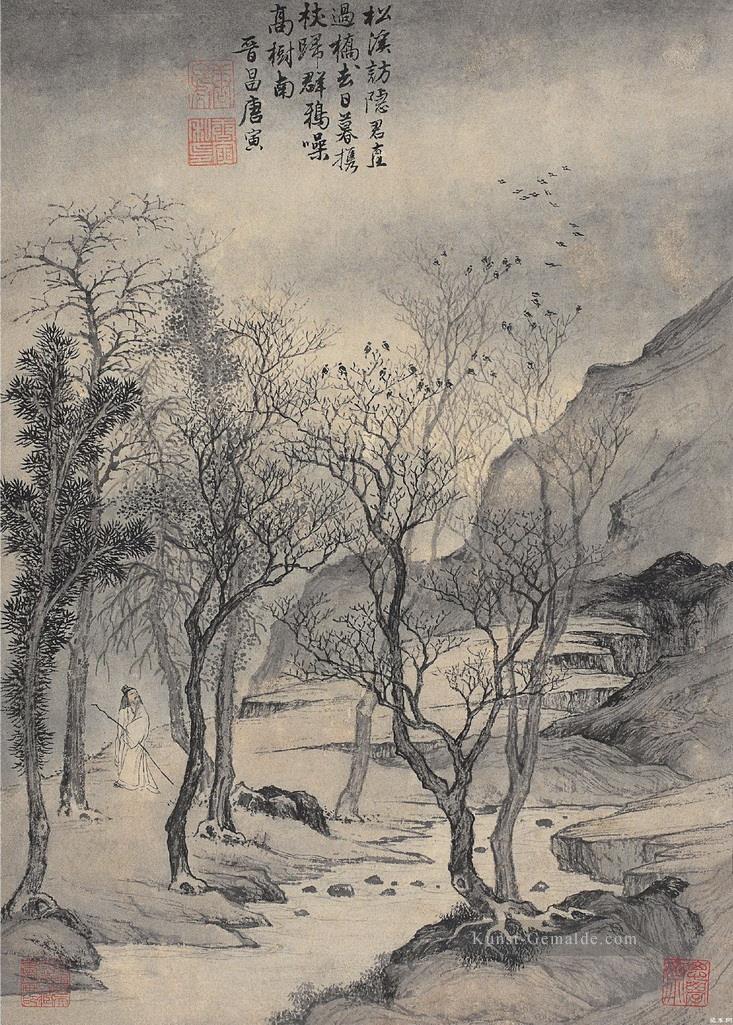 Tang Yin Einsiedler In Berg Chinesische Kunst Gemalde Mit Ol Zu Verkaufen