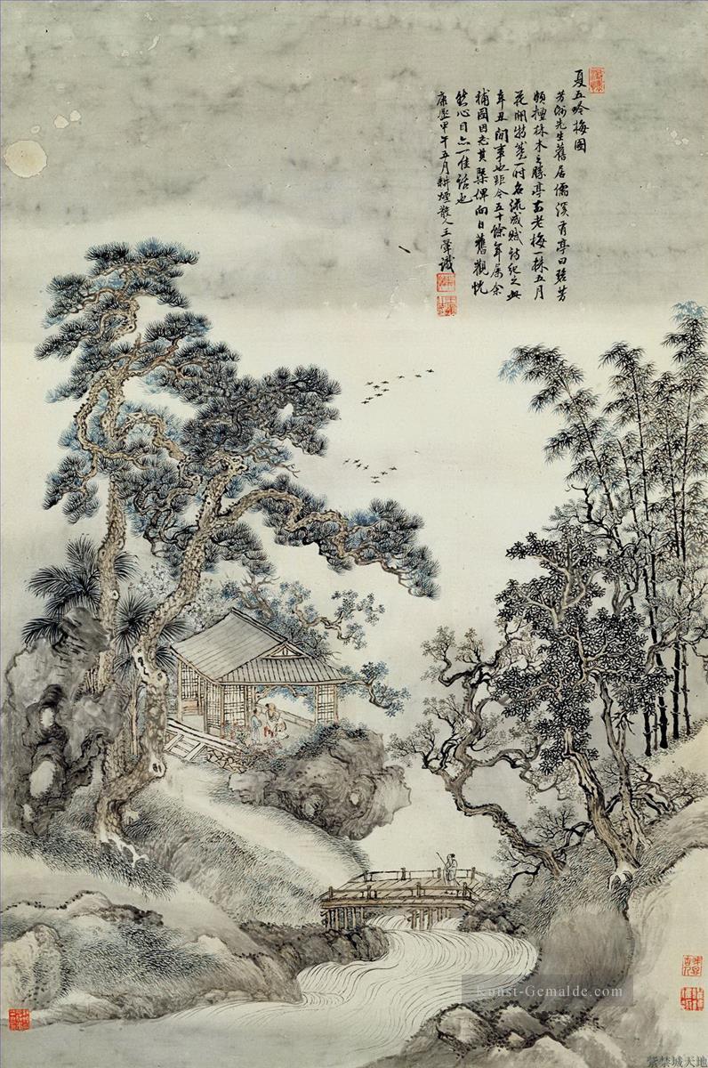 Wanghui Lieder Der Pflaume Im Sommer Chinesische Kunst Gemalde Mit Ol Zu Verkaufen