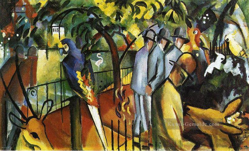 Zoo logical Garden I August Macke Ölgemälde