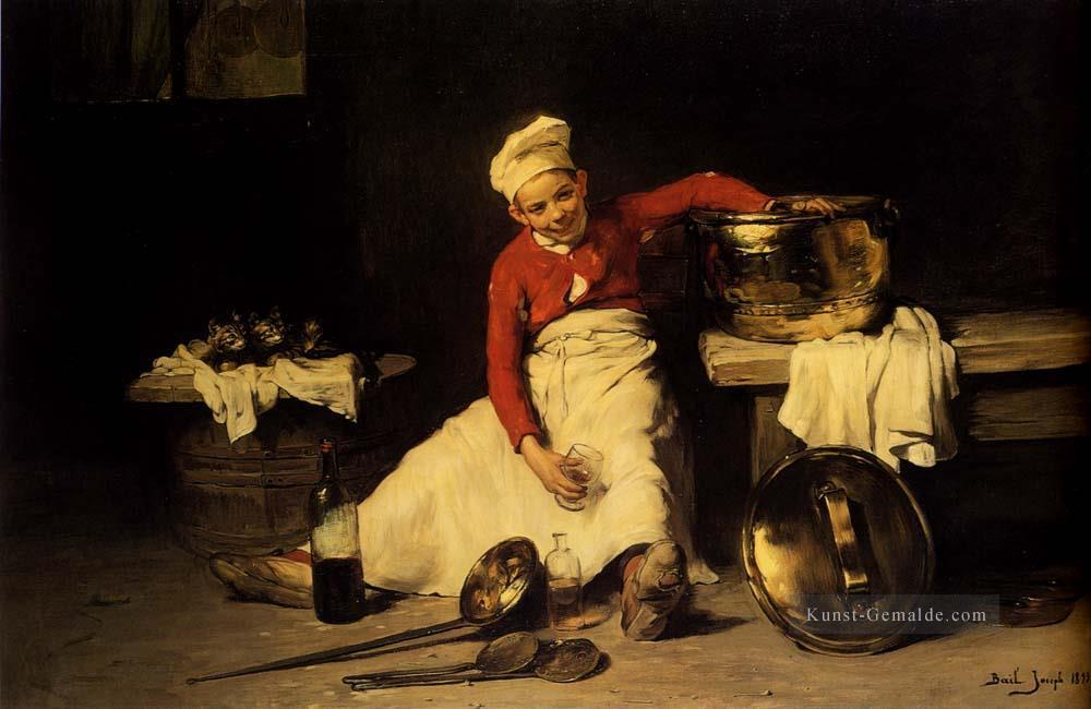 Kitchen Boy Joseph Claude Bail Ölgemälde