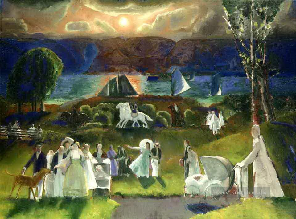 Sommer Fantasie 1924 George Wesley Bellows Ölgemälde