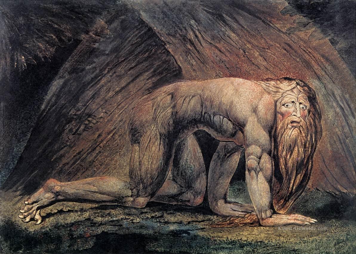 Nebuchadnezzar romantik romantische age william blake gemälde mit ...